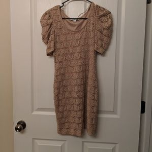 Nude Color, Lace Dress